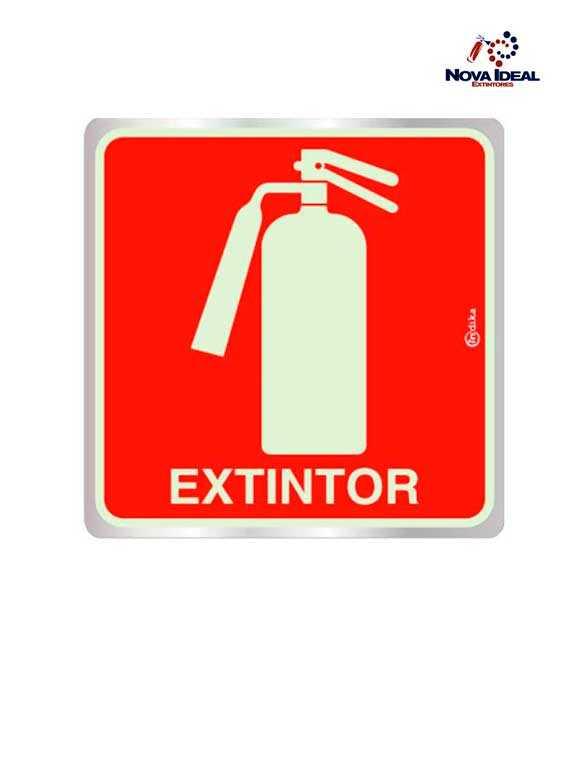 Placas de extintores fotoluminescente